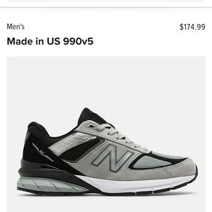 Mens 81/2 new balance 990 new in box with tags